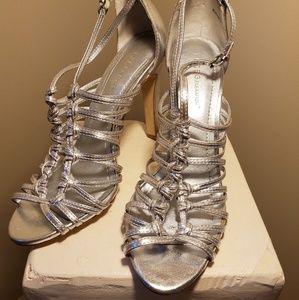BCBG Silver Heels